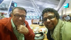 With Che Paulse at Cape Town International Airport