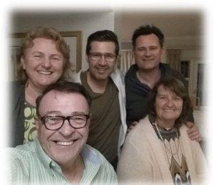With Gillian Marsberg, Daniel Burke, Dale Marsberg and Margaret Logan