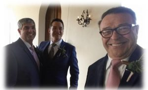 With MP Botes (Best Man) and Werner Groenewald (Groom) at Montpellier de Tulbagh.